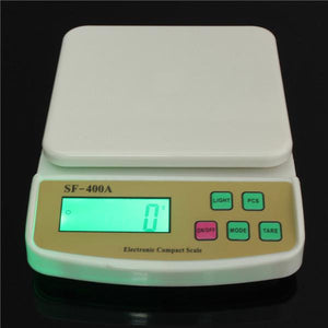 2017 Wholse 1PCS SF-400A Digital Scale For Household Use 10kg 1g Electronic Kitchen Scale Weighing Scale With Backlight