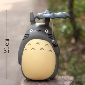 20cm Anime Cartoon Totoro Umbrella Action Figures Pvc Brinquedos Collection Figures Toys For