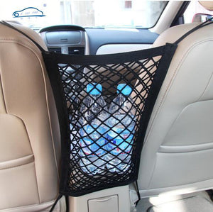 24X25cm Universal Elastic Mesh Net trunk Bag Between Car organizer Seat Back Storage Mesh Net Bag Luggage Holder Pocket
