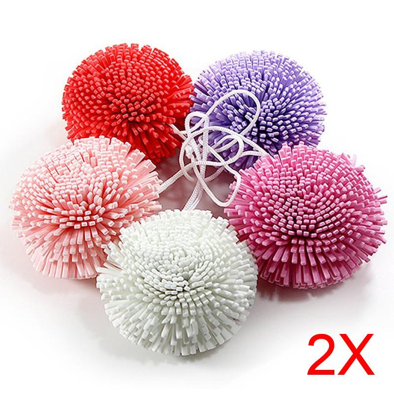2pcs Bath Shower Body Exfoliate Puff Sponge Mesh EVA Colorful Bath Ball TB