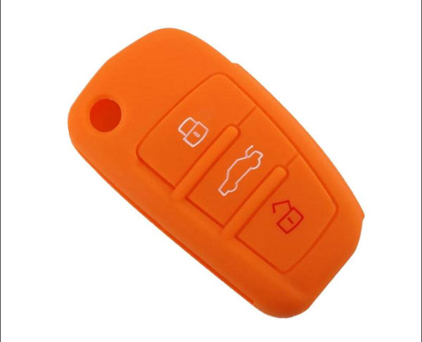 3 Buttons Car Key Case Cover Remote Silicone For Audi A1 A3 Q3 Q7 R8 A6l Fob Protector Shell Accessories Car Styling