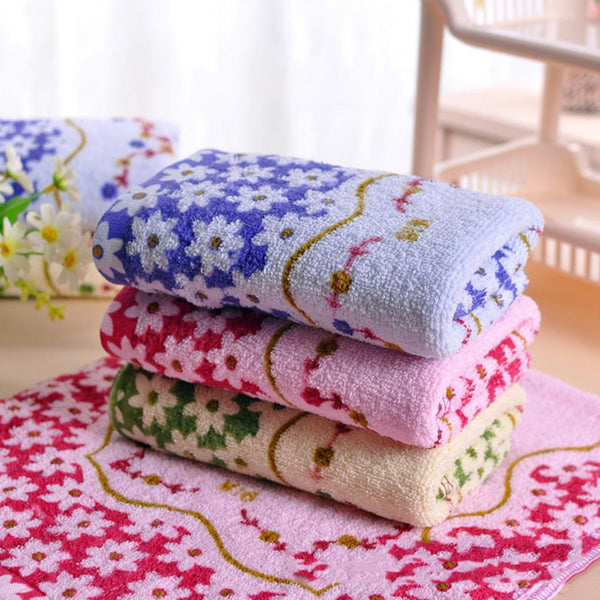 33*73cm Super Absorbent Cotton Printed Absorbent Towel Dry Hand Face Towels Three colors
