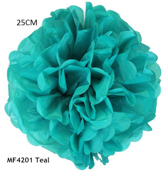 34 Colors 10inch 25cm Handmade Folding Paper Flowers Balls Tissue Pom Poms Holiday Party Decorations