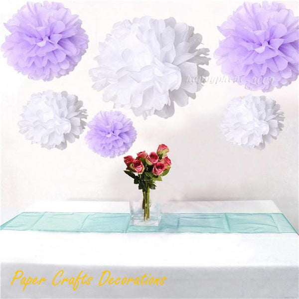 34 Colors 10inch (25cm) Handmade Folding Paper Flowers Balls Tissue Pom Poms Holiday Party Decorations