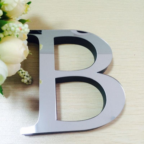 3d Mirror Wall Stickers Wedding English Love Letters Alphabet Home Decor Logo For Wall Decoration