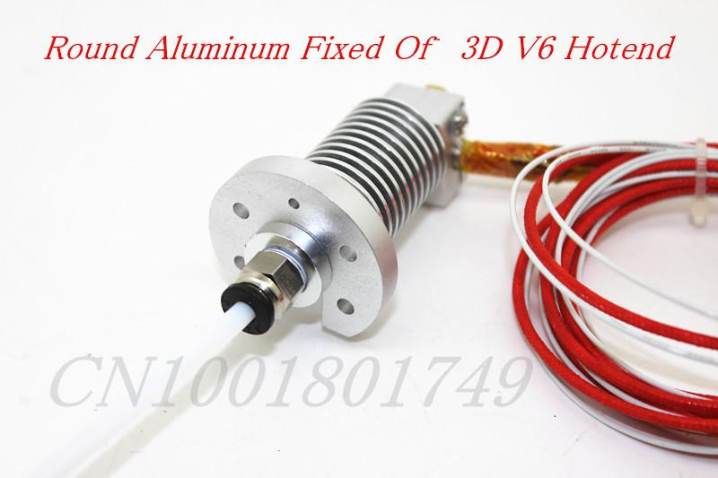 3d Printer Accessories End Round Fixed Aluminum Plate Sandblasting Oxidation Reprap Kossel 3d Jhead V6