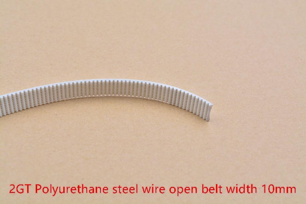 3d Printer Belt 2gt Polyurethane Steel Wire Open Ended Belt 1000mm Gt2 Timing Belt Width 10mm Belt 2gt10 Linear Motion 1pcs