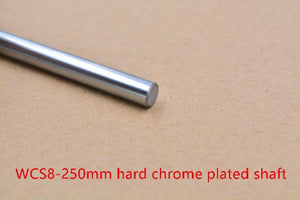 3d Printer Rod Shaft Wcs 8mm Linear Shaft Length 250mm Chrome Plated Linear Guide Rail Round Rod Shaft 1pcs