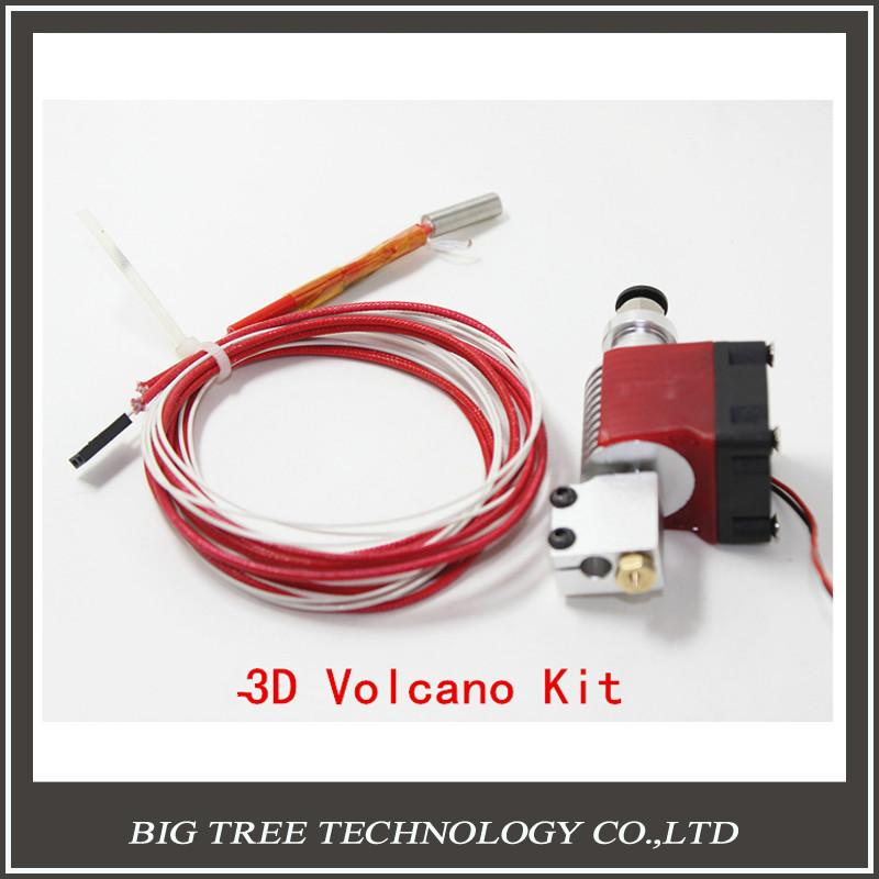 3d Volcano Kit Jhead End With Single Cooling Fan For 1.75mm Universal Extruder 0.4mm 0.6mm 0.8 1.0 1.2mm Nozzle