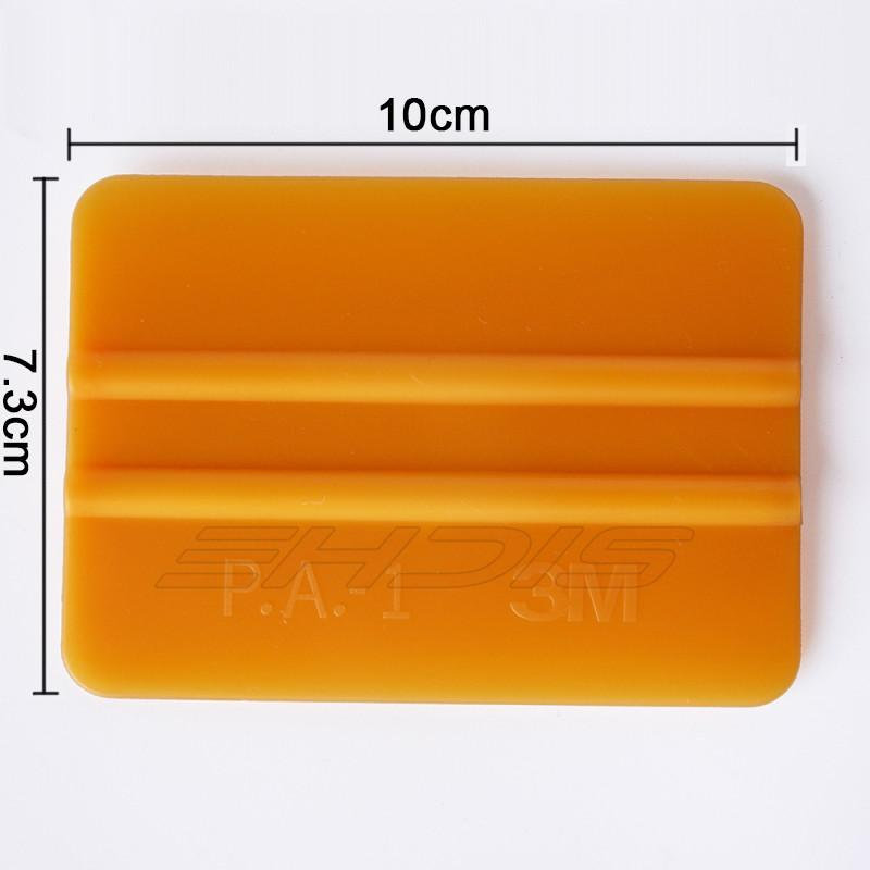 3m gold squeege car wrap tool 3d carbon fiber wrapping scraper tools with size 10x7.3cm car decoration film tools A01G