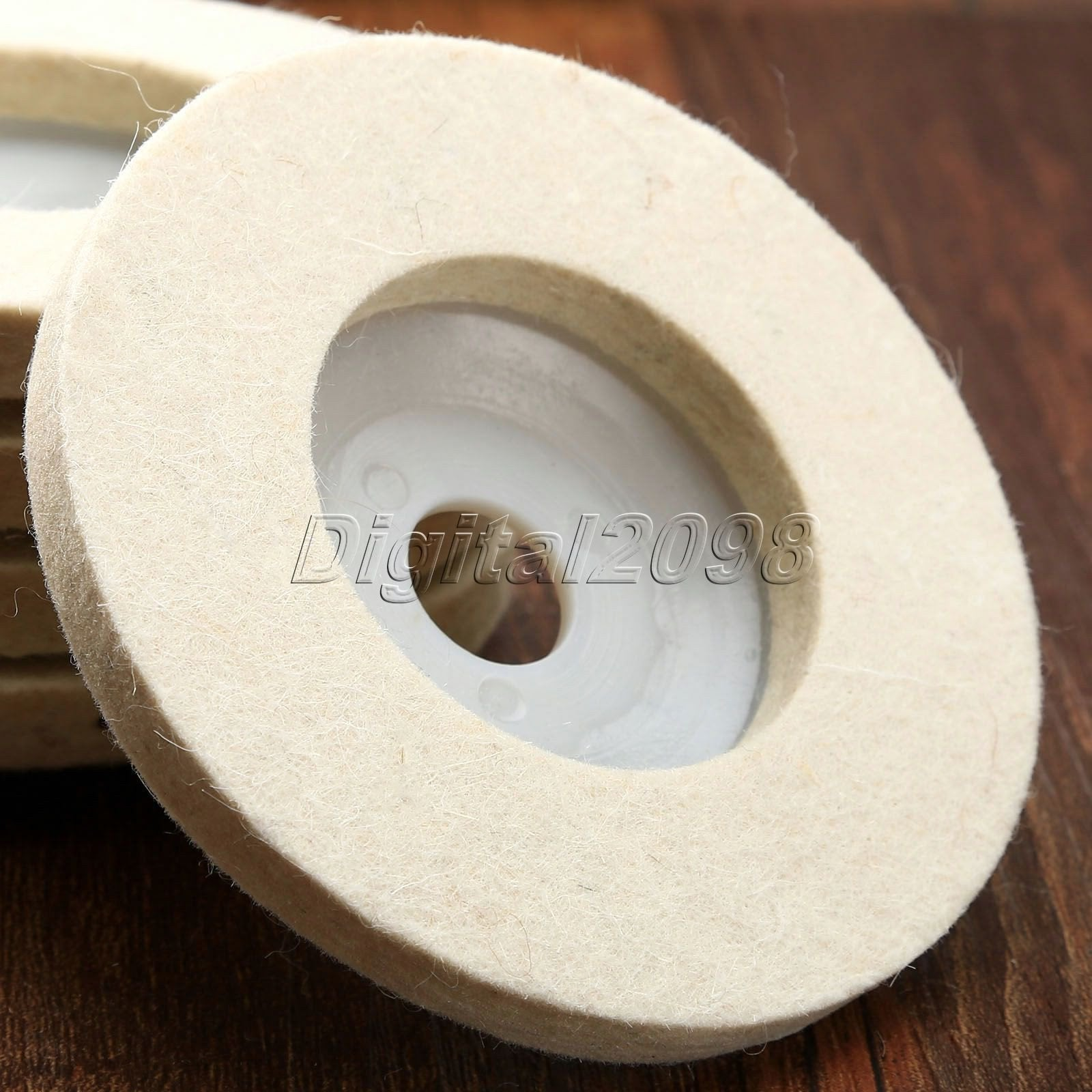 4 inch 100*10mm*16mm Round Polishing Wheel Wool FELT Buffing Polishers Pad Pearl Cloth Wheel Buffing Wheels Abrasive Tool