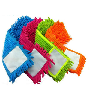 4 pcs Replacement pad for flat mop mops floor cleaning pad chenille flat mop head replacement refill head to floor mops