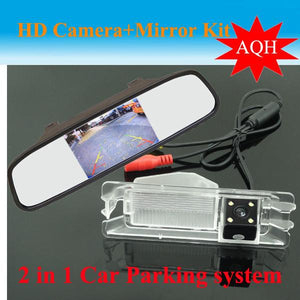 4.3 inch Car monitor mirror + car rear view parking camera for Nissan March For Renault logan Sandero Car backup reverse camera