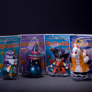 4pcs set Anime Cartoon Dragon Ball Z Sun Goku Master Roshi Gohan PVC Action Figure Collectible Model Toy 10-15cm KT264