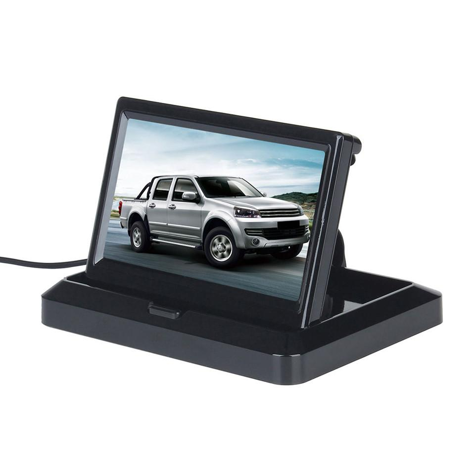 5 Inch Foldable Car Monitor 2W TFT LCD Folable Car Rearview Monitor In-Dash for Backup Camera DVD VCR