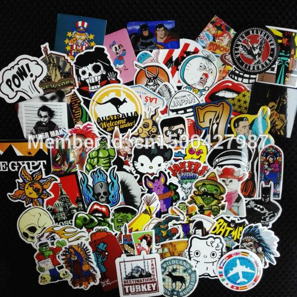 50pcs lot mixed diamond rock waterproof home decor Doodle laptop motorcycle bike travel case decal Car accessories car sticker