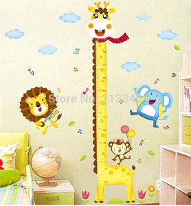 [Saturday Monopoly] Diy Giraffe Height Chart Measure Stickers Wall Decoration Cartoon Animal Park Kids Baby Room Decoration