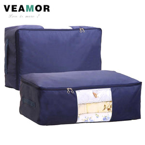 [VEAMOR] Quilt Storage Bags Oxford Luggage Bags S-XXL Home Storage Organizer Waterproof Floding Wardrobe Clothes Storage Bags