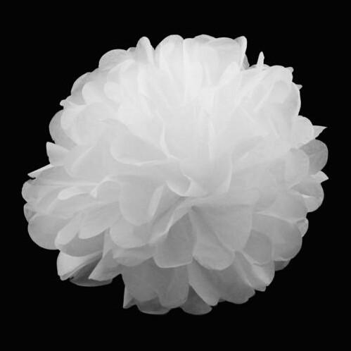 5pcs Tissue Paper Pompom Pom Poms Hanging Wedding Party Decorations -3 Sizes Beautiful Decor Flowers