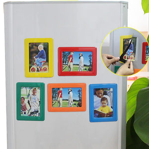 5Pcs Magnetic Multicolor Pos Frames 4 x 6inches Rectangle Pictures Holder for Refrigerator Decoration Accessories DIY