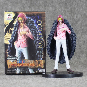 6.7 inch 17cm Japan Anime One Piece Corazon Great All For My Heart Pvc Action Figure Doflamingo Brother Collection Model Toy