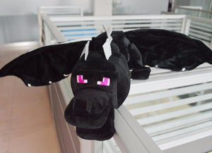 Huge Thin 60cm Minecraft Ender Dragon Plush Black Soft Enderdragon Minecraft Dragon Toy