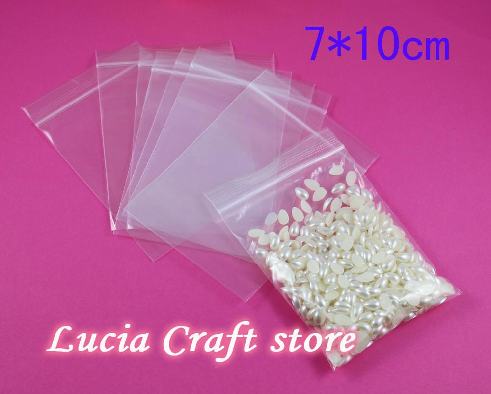 7 *10cm 48pcs lot Storage bag Packing Transparent Zip Lock Bag With Resealable Zipper Bags 19010020(7*10Z48)