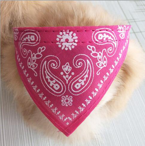 7 Colors 4 Size Adjustable Dog Collar Puppy Cat Scarf Collar For Dogs Bandana Neckerchief Paisley Pattern Pet Accessories