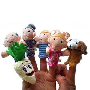 8PCS Set Fairy Tale The Enormous Turnip Finger Puppets Storytelling Doll Educational kids baby Toys