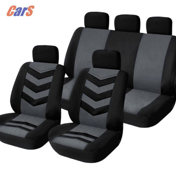9pcs Lot Car Seat Covers Universal Vehicle Car Cover Set Mesh Sponge Comfortable Seat- Covers Durable Headrest Cover