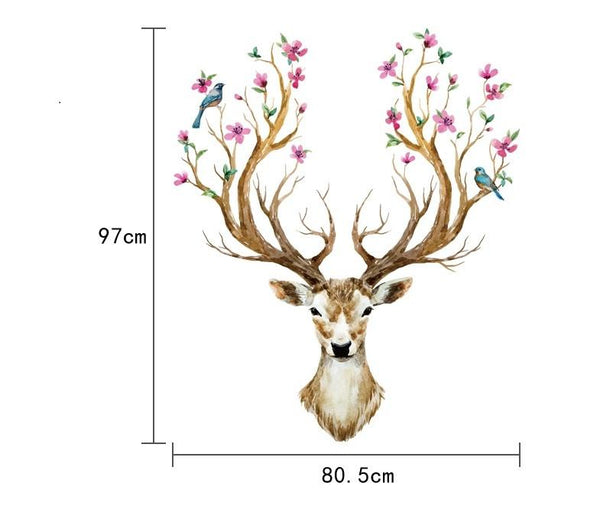 Animal Cartoon Deer Diy Vinyl Wall Stickers For Kids Rooms Home Decor Art Decals 3d Wallpaper Decoration Adesivo De Parede