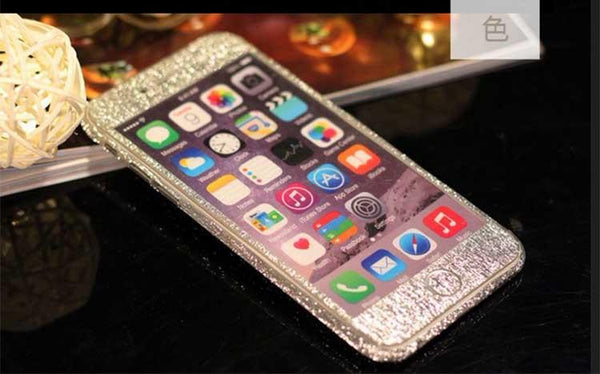 Bling Glitter Shiny Diamond Wire Drawing Full Body Front And Back Sticker Case For Iphone 6 6s 6 Plus 6s Plus