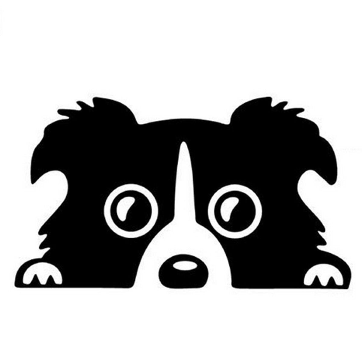 Border Collie Dog Puppy In Car Lady Car Window Truck Auto Bumper Laptop Sticker