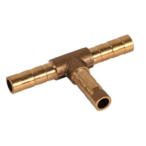Brass T Piece 3 Way Fuel Hose Joiner Connector For Compressed Air Oil Gas Pipe