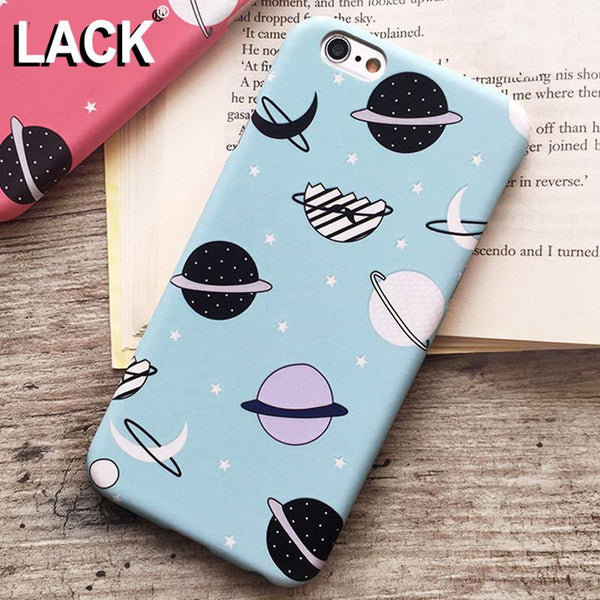 Cartoon Airship Stars Frosted Case For iphone 5S Case For iphone 5 5S 6 6S Plus Hard Cover Universe Series Phone Cases Capa