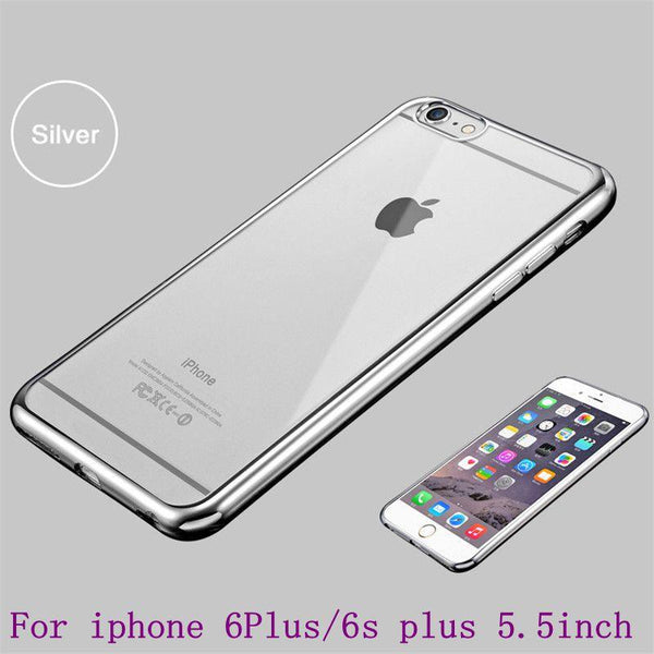 Case For Apple Iphone 6 6s 4.7 inch 6plus 6s Plus 5.5 inch Royal Luxury Style Plating Gilded Tpu Phone Silicone Soft Back Case Cover