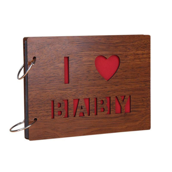 Wooden Covering Albums Handmade Loose-leaf Pasted Po Album Personalized Baby Lovers Po Album Scrapbooking