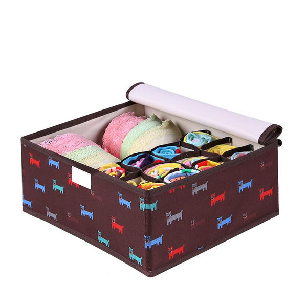 Colorful Oxford Cloth Storage Box For Bra Underwear Necktie Socks Water Proof Storage Bag 32*26*13cm