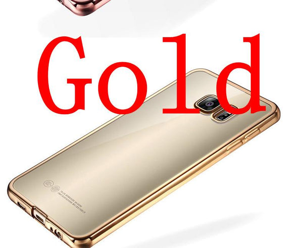 Coque For Samsung Galaxy S6 Edge S6 S7 S7 Edge Case Clear Transparent Gold Plating Soft Tpu Back Cover For Samsung S6 Edge Case