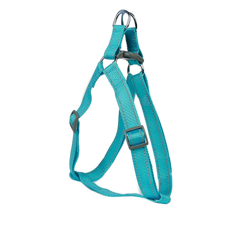 Creative Four Colors Nylon Dog Harness Pet Collars Pet Chest Back Traction Belt Happy