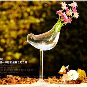 Creative Tall Bird Vase Glass Vase Home Decoration El Decor Flower Containers Wedding Decoration Couple