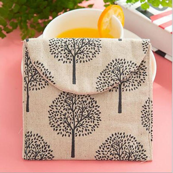 Cute Cartoon Cotton Pads To Receive Fresh Bag Sanitary Napkin Bag Zero Wallet Storage Bag 13*12.5cm