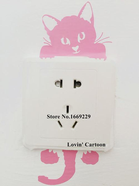 Diy Funny Cute Cartoon Switch Stickers Wall Decor Home Bedroom Parlor Decoration
