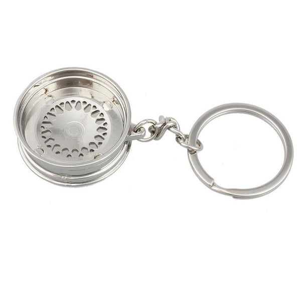 Dependable Fashion Popular Creative Car Auto Metal Mini Wheel Rim Tyre Key Chain Keyring Ap4