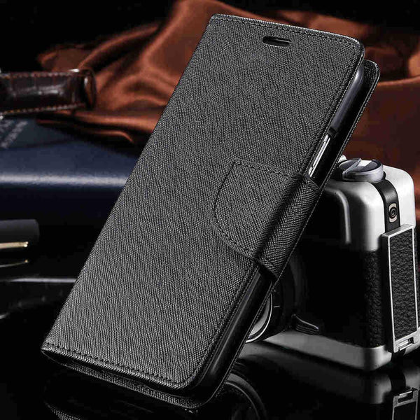Dual Color Flip Leather Phone Bag Case For Iphone 6 7 6s Plus 5 5s Se Card Slots + Stand Holster Cover Case For Iphone 7 6 6s