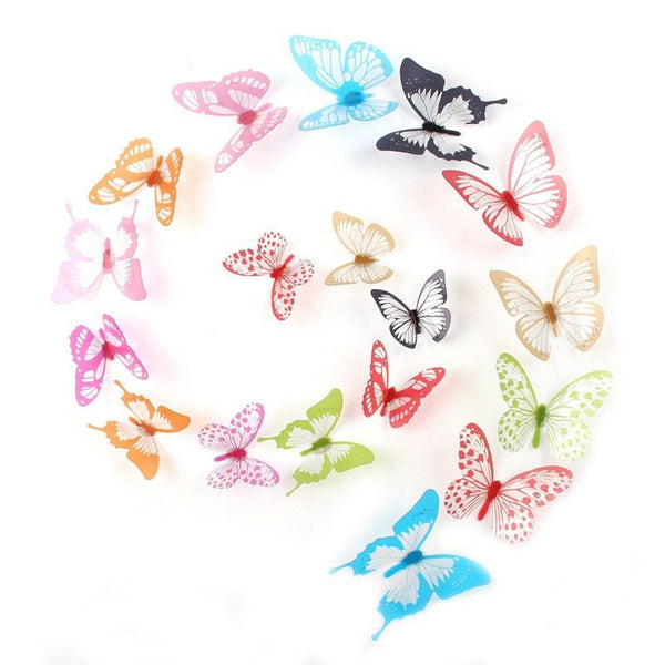 Fengrise Pvc Magnet 3d Butterfly Wall Sticker Decals Home Decor Poster For Kids Rooms Adhesive Wall Art Stickers Fridge Decor