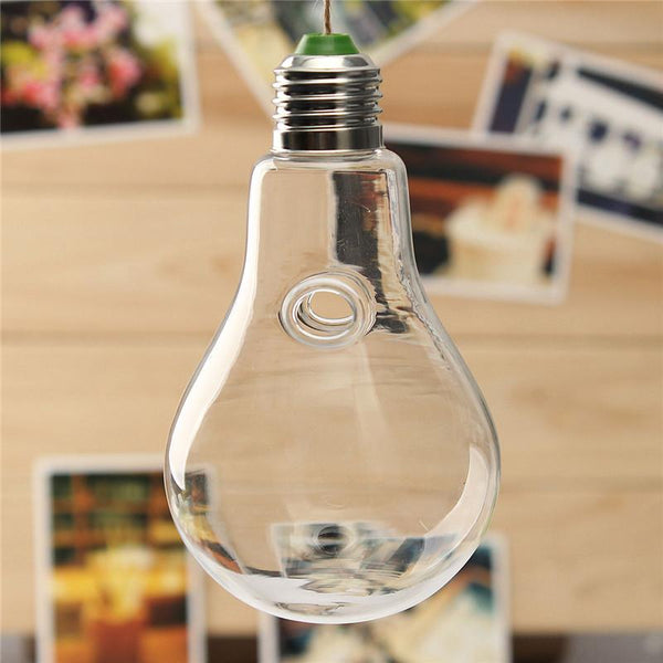Fashionable Clear Hanging Glass Plants Flower Vase Hydroponic Container Party Decor Bulb Shape