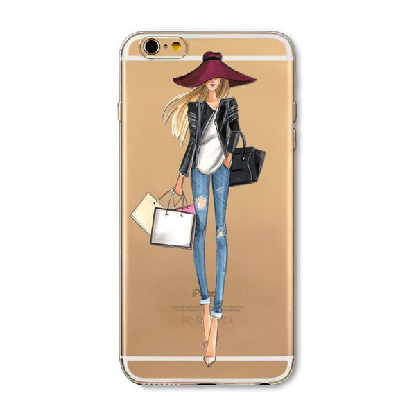 Fashionable Girls Paisley Mandala Flowers Flamingo Cat Soft Silicon Phone Cases For Apple Iphone Iphone 6 6s Funds Coque Capa