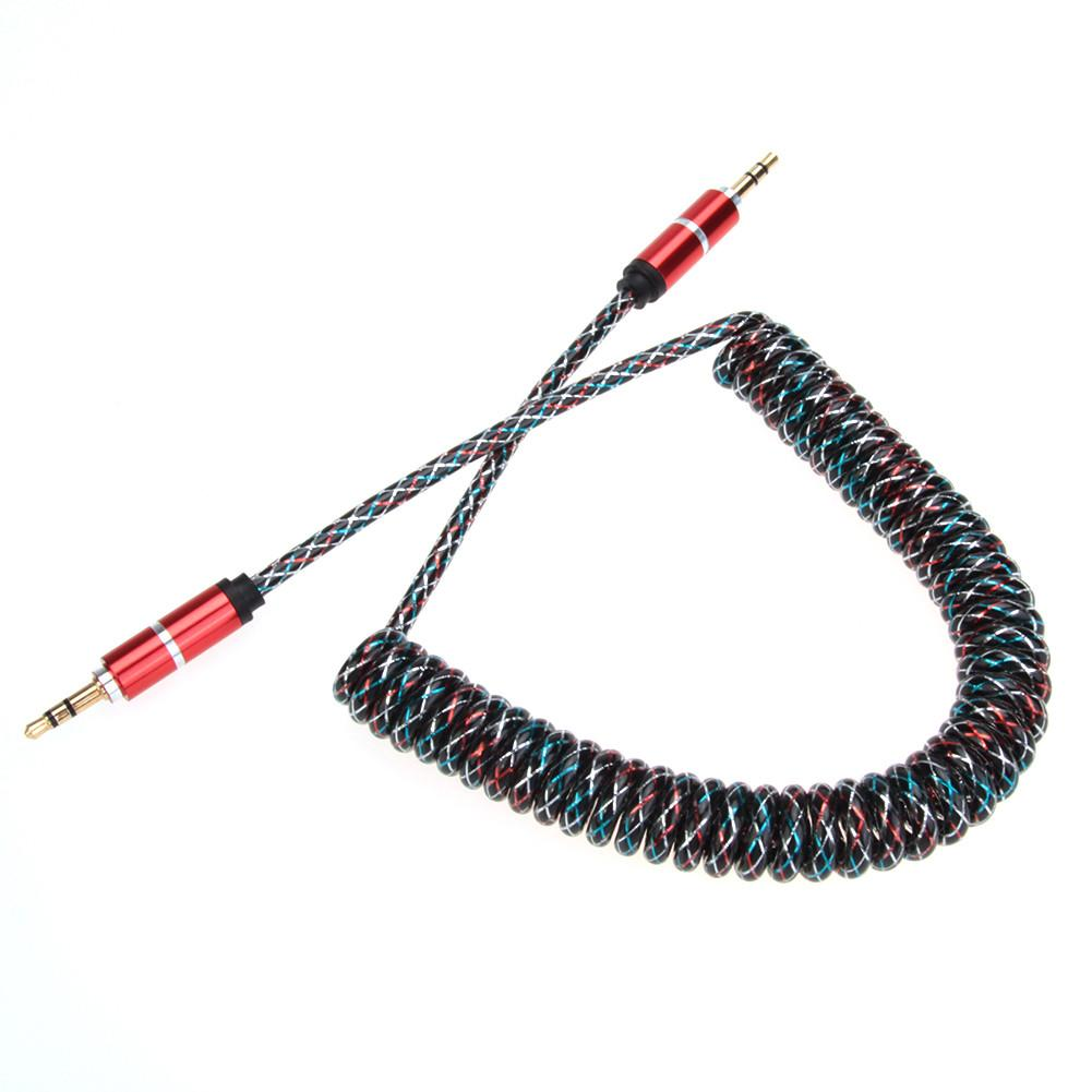 Flexible 3.5mm Car Jack Male To Male Extend Stereo Audio Aux Cable Cord Multi-colors For Cellphone Mp3 Mp4 Mobile Phone Speaker