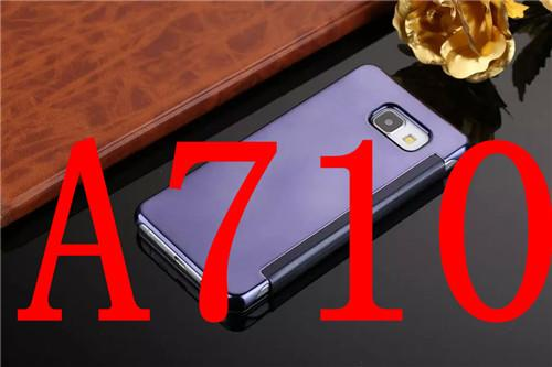 Flip Case For Samsung A5 2016 Clear View Window Smart Cover For Samsung Galaxy A5 A510 A710 2016 Flip Mirror Pu Leather Case